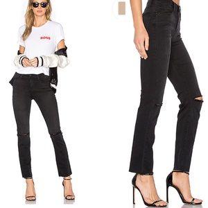 NWT Frame Denim Le High Straight ripped knee jean